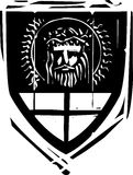 Heraldic Shield Christ Royalty Free Stock Photos