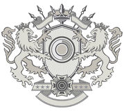 Lion Shield Crest Royalty Free Stock Photo