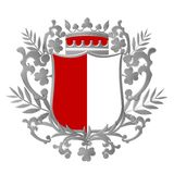 Heraldic Shield Design Stock Image