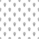 Heraldic shield pattern, simple style Stock Image
