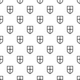 Heraldic shield pattern, simple style Royalty Free Stock Photography