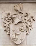 Heraldic shield stone Stock Images