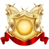 Heraldic shield v. 3 royalty free stock images