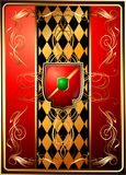 Heraldic shields on a rich background. (Vector) Stock Photo