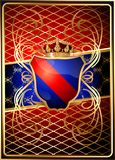Heraldic shields on a rich background. (Vector) Stock Images