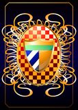 Heraldic shields on a rich background. (Vector) Royalty Free Stock Photo
