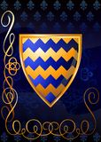 Heraldic shields on a rich background. (Vector) Stock Photography