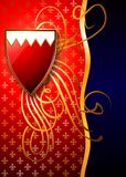 Heraldic shields on a rich background. (Vector) royalty free stock image