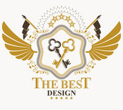 Heraldic sign, element, heraldry emblem, insignia, sign, vector. Royalty Free Stock Photos