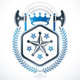 Heraldic sign, element, heraldry emblem, insignia, sign, vector. Royalty Free Stock Images