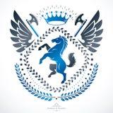 Heraldic sign, element, heraldry emblem, insignia, sign, vector. Royalty Free Stock Image