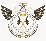 Heraldic sign, element, heraldry emblem, insignia, sign, vector. Royalty Free Stock Photography