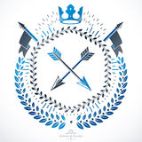 Heraldic sign, element, heraldry emblem, insignia, sign, vector. Stock Photography