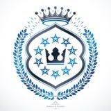 Heraldic sign, element, heraldry emblem, insignia, sign, vector. Stock Photo
