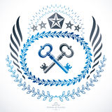Heraldic sign, element, heraldry emblem, insignia, sign, vector. Stock Image