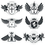 Heraldic signs, elements, heraldry emblems, insignias, signs Royalty Free Stock Image
