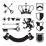 Heraldic silhouettes for signs and symbols Royalty Free Stock Image