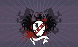Heraldic soccer coat of arms gryphon background. In vector format vector illustration