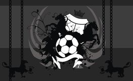 Heraldic soccer coat of arms horses background Royalty Free Stock Photos