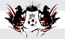 Heraldic soccer wolf crest coat of arms background. In vector format very easy to edit Stock Image