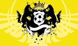 Crown Soccer wolf crest coat of arms background. Heraldic soccer wolf crest coat of arms background in vector format very easy to edit Royalty Free Stock Images