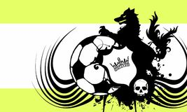 Insignia soccer wolf crest coat of arms background. Heraldic soccer wolf crest coat of arms background in vector format very easy to edit Royalty Free Stock Photo