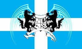 Soccer wolf crest coat of arms background. Heraldic soccer wolf crest coat of arms background in vector format very easy to edit Royalty Free Stock Images