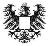 Heraldic style eagle isolated on white. Vector black and white heraldic style illustration of eagle isolated on white Royalty Free Stock Photos
