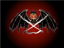 Heraldic swords wings Stock Image