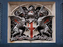 Heraldic symbol on Tower Bridge, London Stock Photography