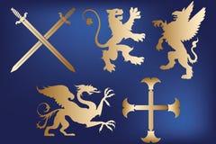 Heraldic symbols Royalty Free Stock Images