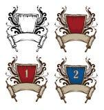 Heraldic symbols royalty free stock photos