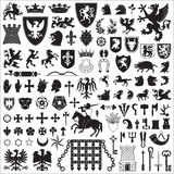 Heraldic symbols and elements Royalty Free Stock Image