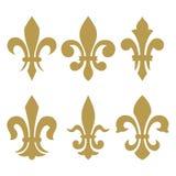 Heraldic symbols (fleur de lis) Stock Image