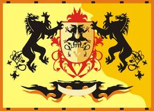 Heraldic theme. Vector illustration Stock Photo