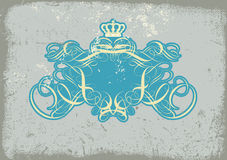 Heraldic titling frame vector illustration