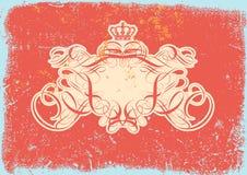 Heraldic titling frame Royalty Free Stock Image