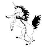 Heraldic unicorn Stock Image