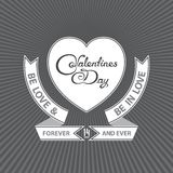 Heraldic valentines day design Royalty Free Stock Images