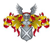 Heraldic vector Royalty Free Stock Photos