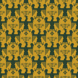 Heraldic vector background seamless Royalty Free Stock Photography
