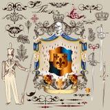Heraldic vector set of  design elements Royalty Free Stock Images