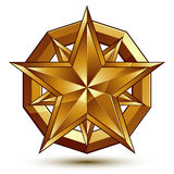 Heraldic vector template with five-pointed golden star, dimensio Stock Photography