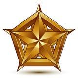 Heraldic vector template with golden star, Stock Image