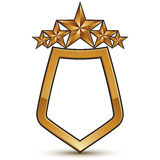 Heraldic vector template with pentagonal golden stars Royalty Free Stock Photos