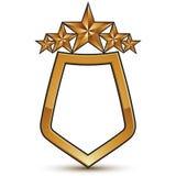 Heraldic vector template with pentagonal golden stars Royalty Free Stock Photos