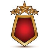 Heraldic vector template with pentagonal golden stars Stock Photography
