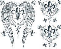 Heraldic wing royalty Royalty Free Stock Photos