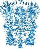 Heraldic wing tattoo Stock Photos