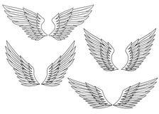 Heraldic wings Stock Images